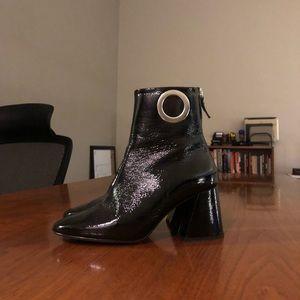 Black patent Topshop booties